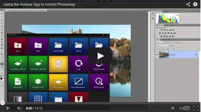 Actions App for Controlling Photoshop