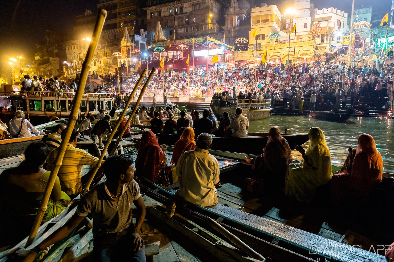 Photographing Ganga Arti , Varanasi