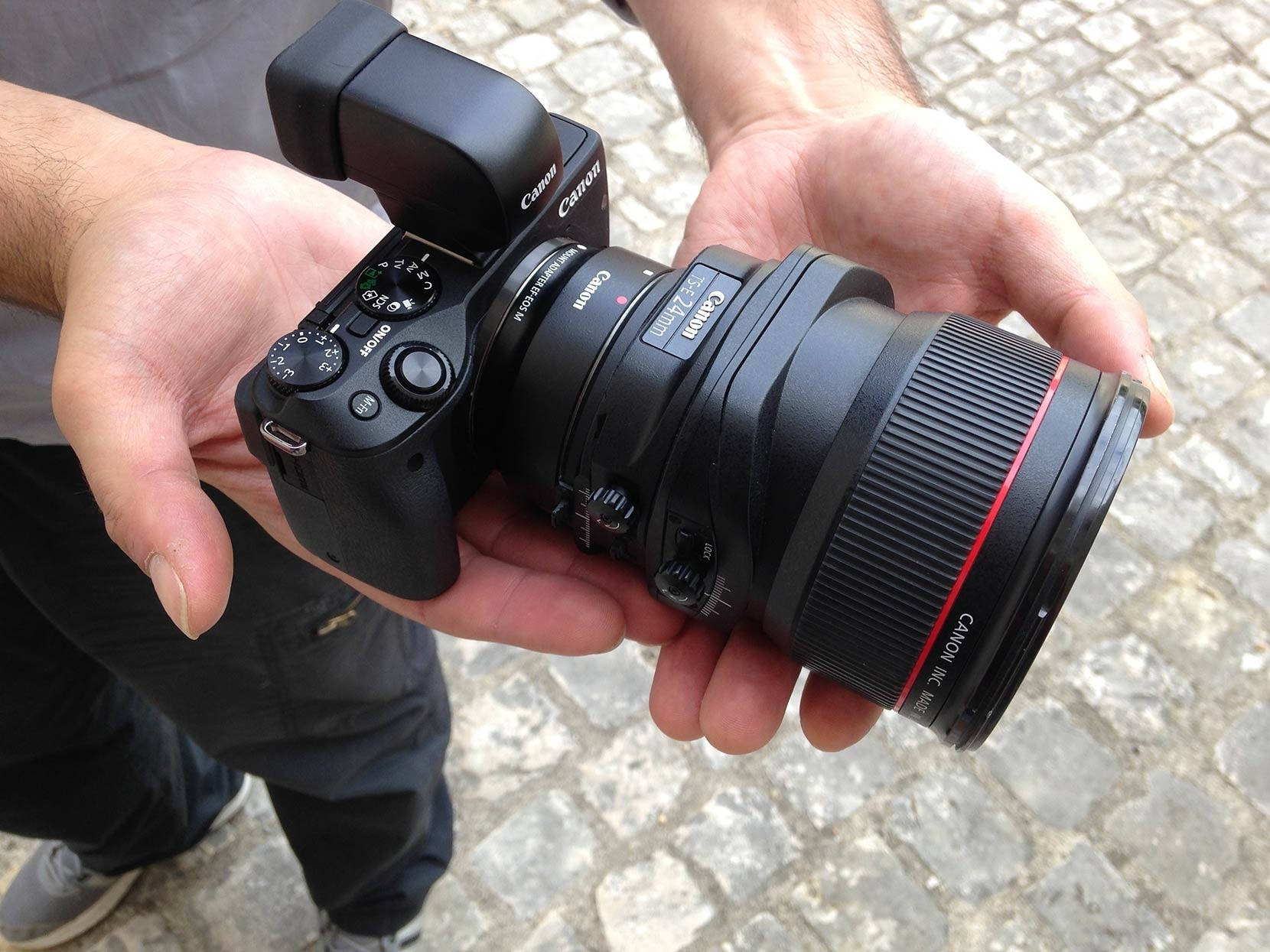 The EF lens adapter makes all manner of possibilities. Here, the 24mm TSEmk2 becomes a 38mm TSEmk2