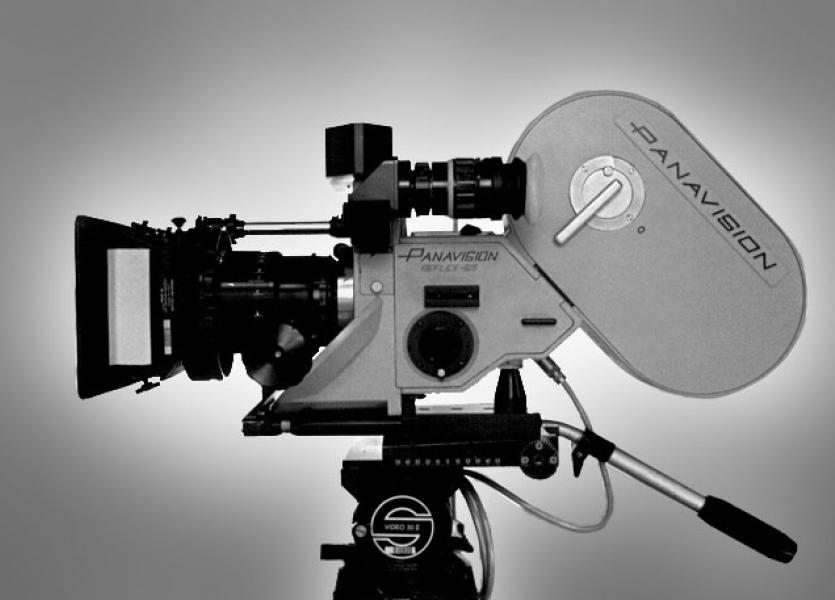 A Panavision 65mm camera