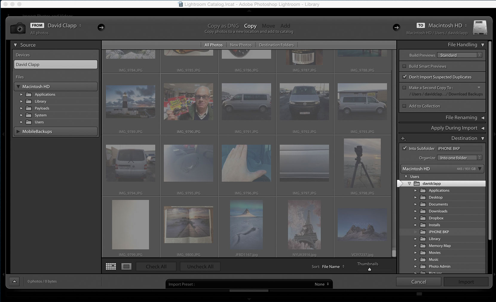 Backup and Deleting iPhone Images Using Lightroom