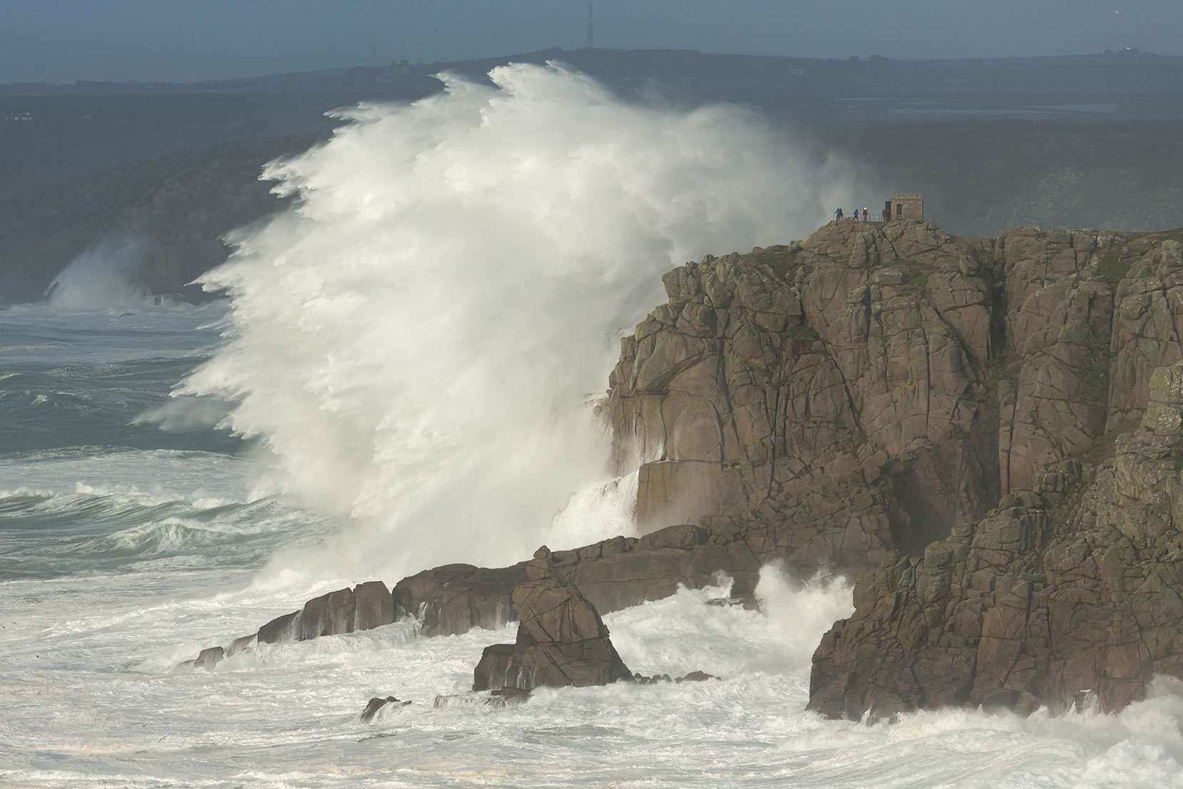 Storm Imogen at Land's End