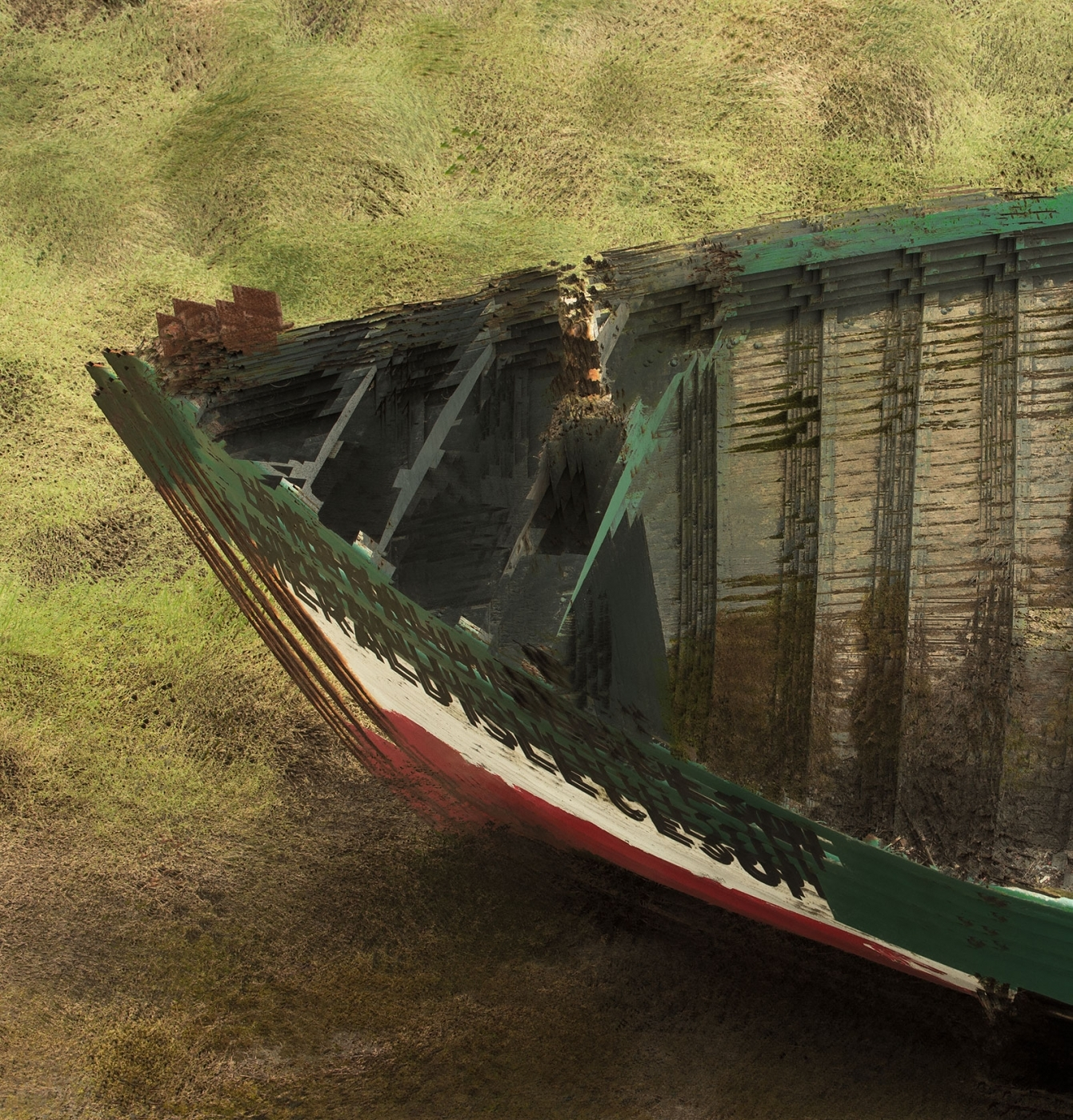 A boat hull shot again using 9 blended images, all made in camera