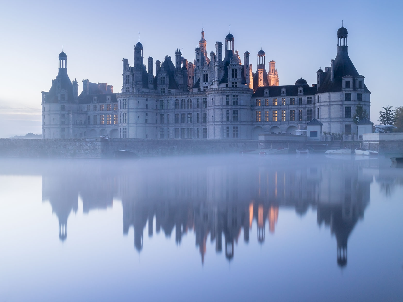 Chambord - suffering from flood damage after spring time flooding, I hope the chateau is restored.
