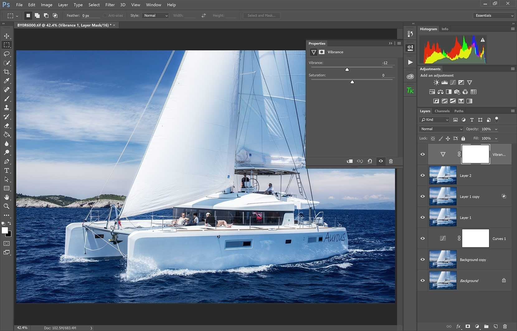 The Surface Book handled Photoshop CC 2015 without breaking sweat. It took 6 images and multiple layers to punish the processor to a slow grind - very impressive