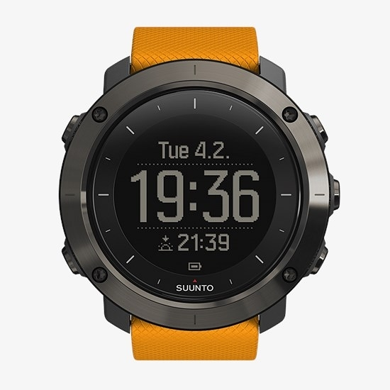 The Suunto shows dual displays - you can see sunset time underneath the time