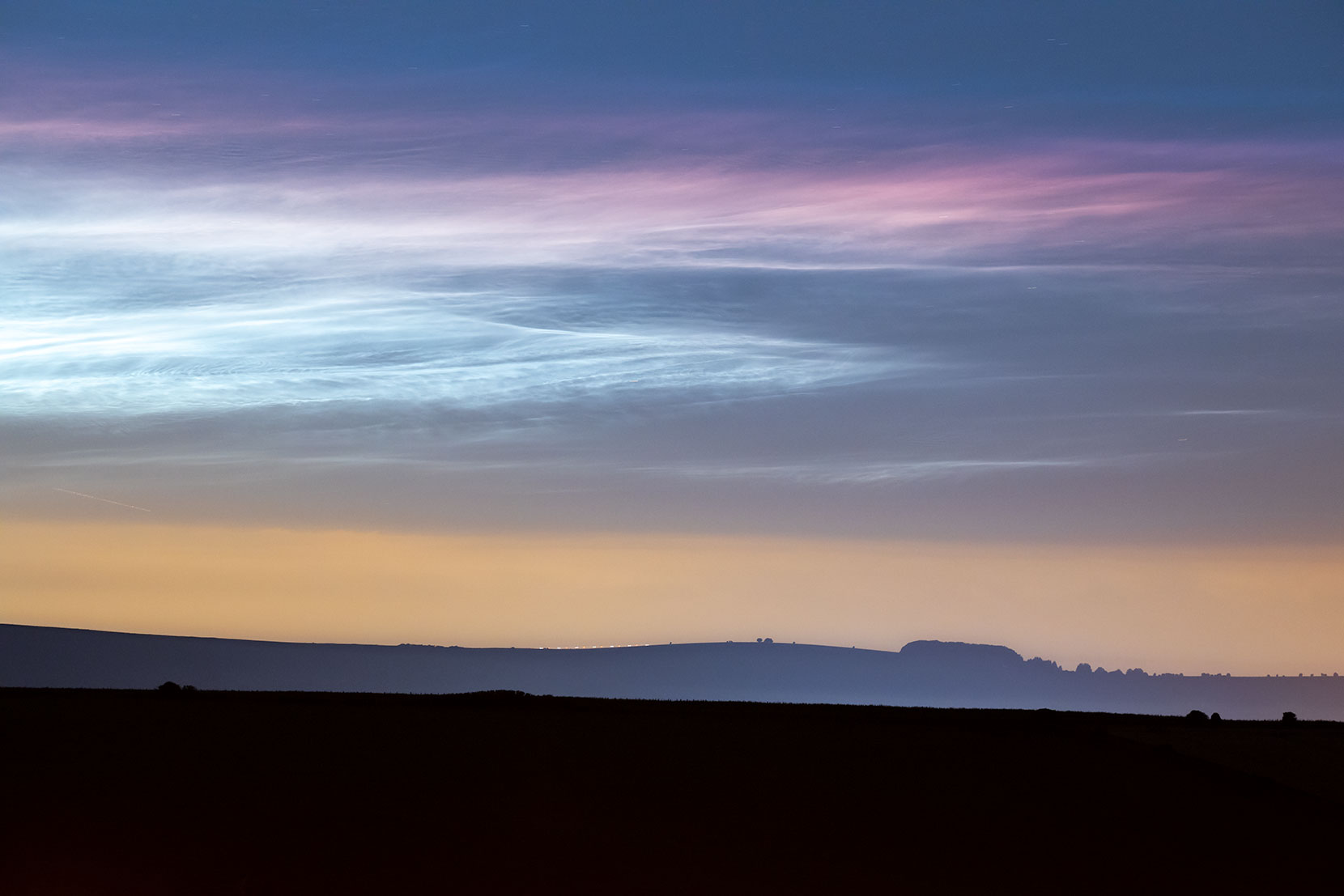 Noctilucent Clouds Over Southern England