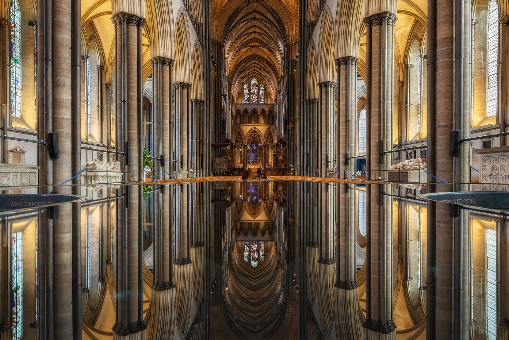 The only other interior reflection image I have seen is in Ely Cathedral, on a viewing mirror