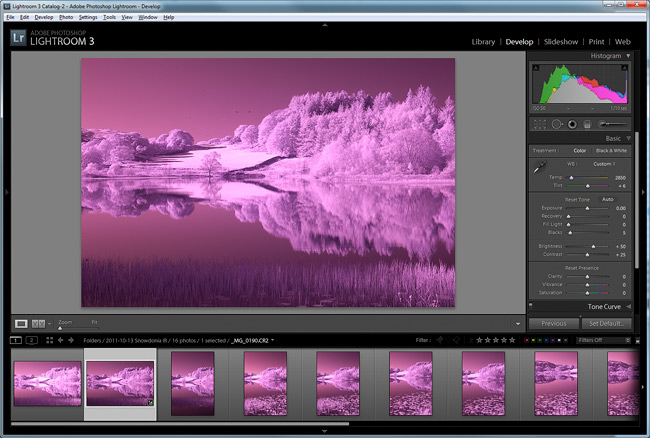 Images from camera before infrared balancing