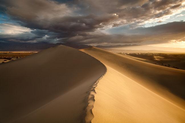 Death Valley, Sotvepipe Wells, Mesquite Dunes
