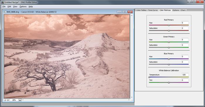 David Clapp - Lightroom White Balance Profile Infrared Processing