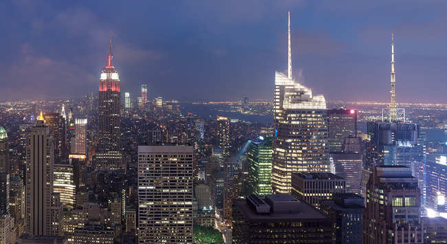 Top of the Rock - remarkable skyline of NYC