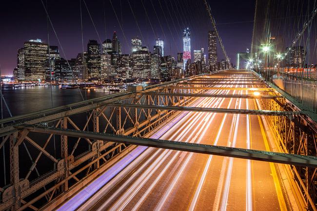 Brooklyn Bridge and Manhattan Skyline - New York