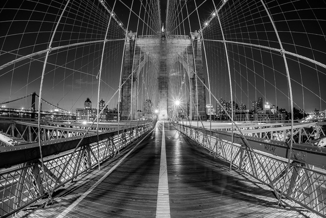 Brooklyn Bridge - the alternative black and white conversion