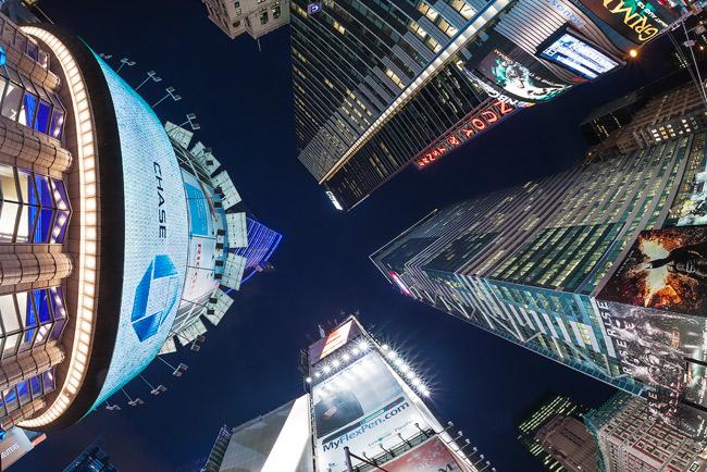 Sigma 15mm fisheye in Times Square, Manhattan