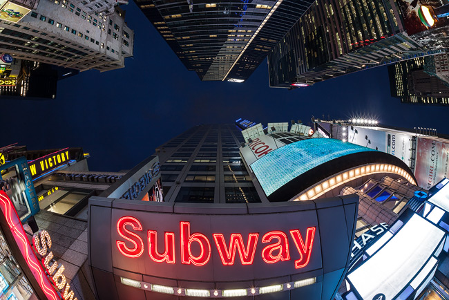 Sigma 15mm in Times Square, Manhattan