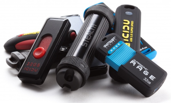 Collection of memory sticks